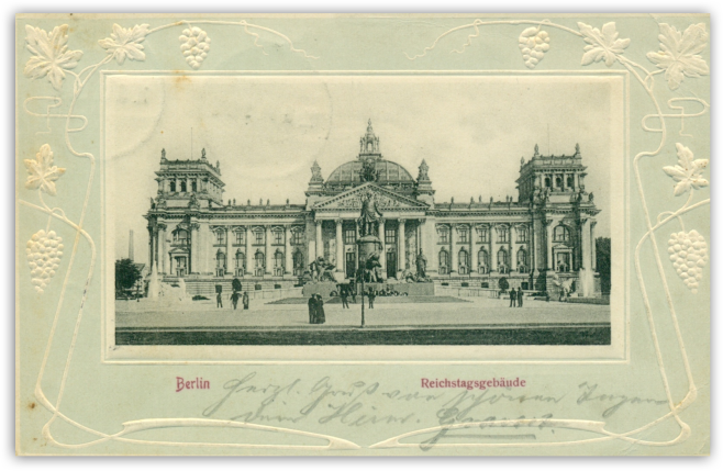 german parliament postcard