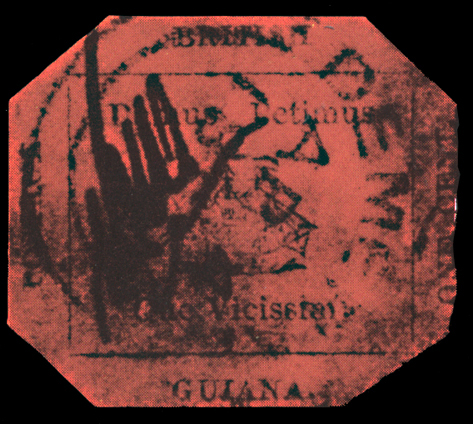 Fig. 6: The famous stamp of 1-cent in magenta of British Guiana